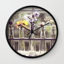 Windowsill Flowers Wall Clock