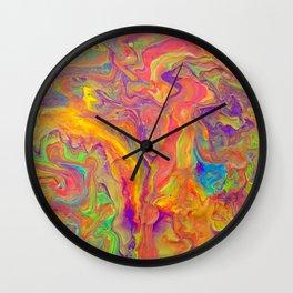 Unicorn psychedelic ice cream Wall Clock