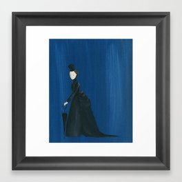 Victorian Umbrella Lady - Original Acrylic on Canvas Art Framed Art Print