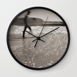 Surfer In Motion Wall Clock