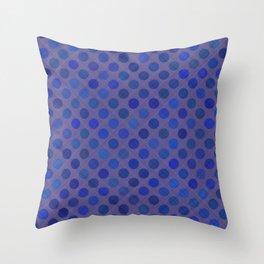 Blue Dotty Pattern Throw Pillow