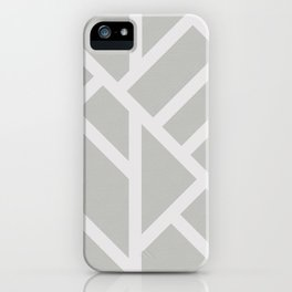 Modern Gray and White Abstract Stripes iPhone Case