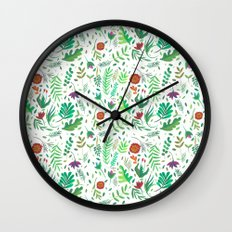 flowers watercolor Wall Clock