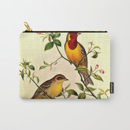 Red-Headed Bunting Carry-All Pouch