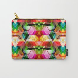 Cutout Facet Pattern 3 Carry-All Pouch
