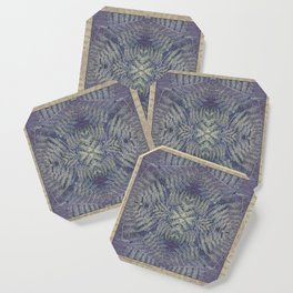 SYMMETRICAL PASTEL PURPLE BRACKEN FERN MANDALA Coaster