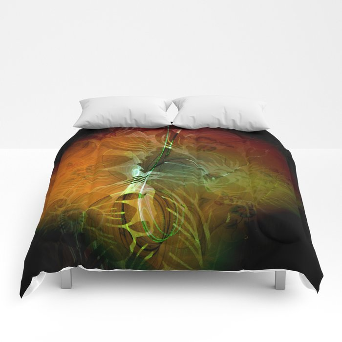 Abstract floral design Comforters