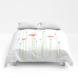 Delicate poppies Comforters