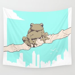 City Frog Wall Tapestry
