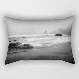 Foggy Day at Trinidad (BW) Rectangular Pillow