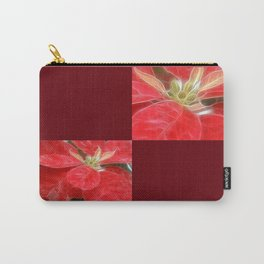 Mottled Red Poinsettia 1 Ephemeral Blank Q10F0 Carry-All Pouch