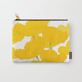 Yellow Mellow Poppies On A White Background #decor #society6 #buyart Carry-All Pouch