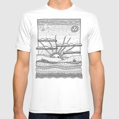 Voyage incertain (uncertain travel) MEDIUM Mens Fitted Tee White