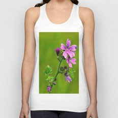 Common Mallow (Cheeseweed) Unisex Tank Top
