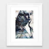 charmaine olivia Framed Art Prints featuring Olivia by  Maʁϟ