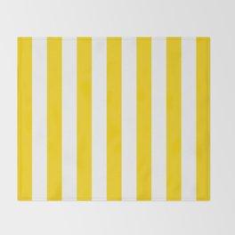 Vertical Stripes (Gold/White) Throw Blanket