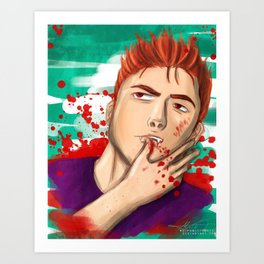 That Actually Hurt Art Print