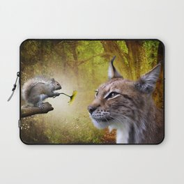 Canadian Lnx and Squirrel Laptop Sleeve