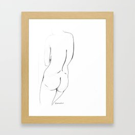 Body Lines Framed Art Print