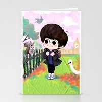shinee Stationery Cards featuring SHINee Minho & London Squirrel by sophillustration