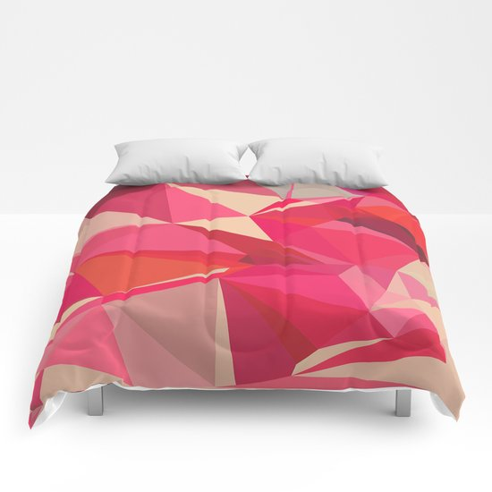 Ruby and Raspberry Comforters