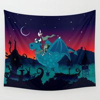 watch Wall Tapestries featuring Night watch by mangulica illustrations