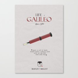 Life of Galileo Galilei, Bertolt Brecht, book cover, classic novel, play, poster, penguin, theatre Canvas Print