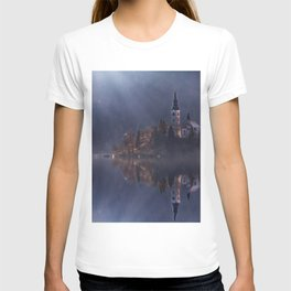 View island and church on Bled Lake.  T-shirt
