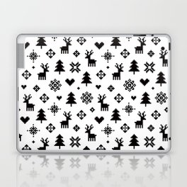 PIXEL PATTERN - WINTER FOREST Laptop & iPad Skin