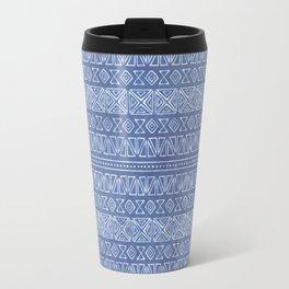 Tribal Batik in Cornflower Blue Travel Mug