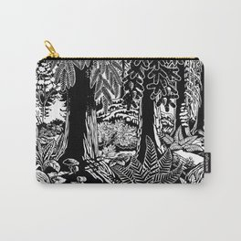 Landscape Art Gifts B & W Forest Art Print Carry-All Pouch