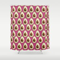 avocado Shower Curtains featuring Avocado by SandraSuarez