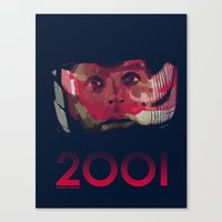 2001 Canvas Prints featuring 2001 by Shujaat Syed