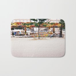 Photograph of Paris summer fair outside of St Honore Hotel society6 zolliophone shop Bath Mat