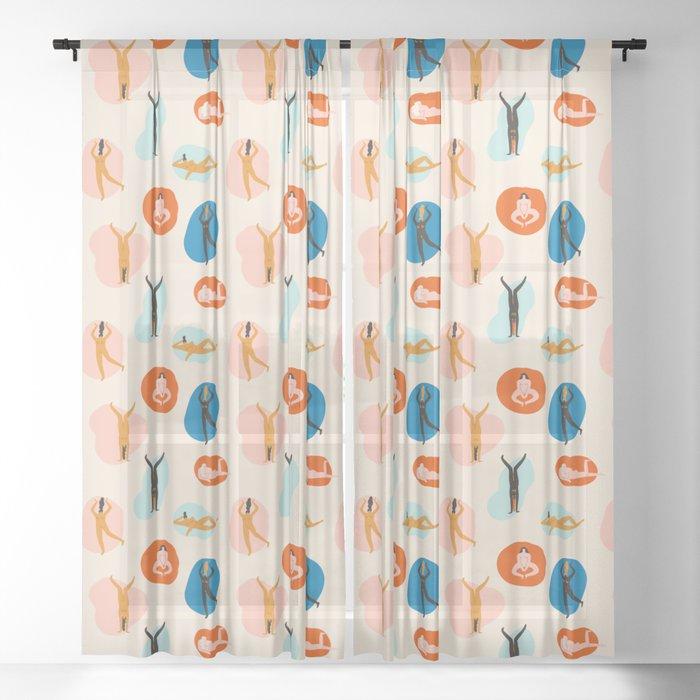 Hey Girls Sheer Curtain By Tasiania Society6