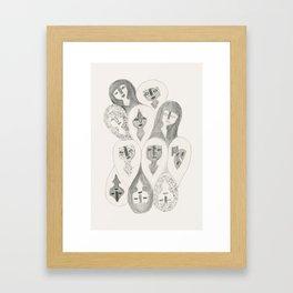 Pencil Girls Framed Art Print