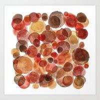 Red Pebbles Art Print