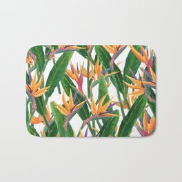 bird of paradise pattern Bath Mat