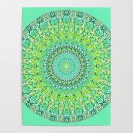 Green Geometric Mandala 0118 Poster