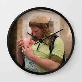 A Soldier & His Baby (Landscape Orientation) Wall Clock