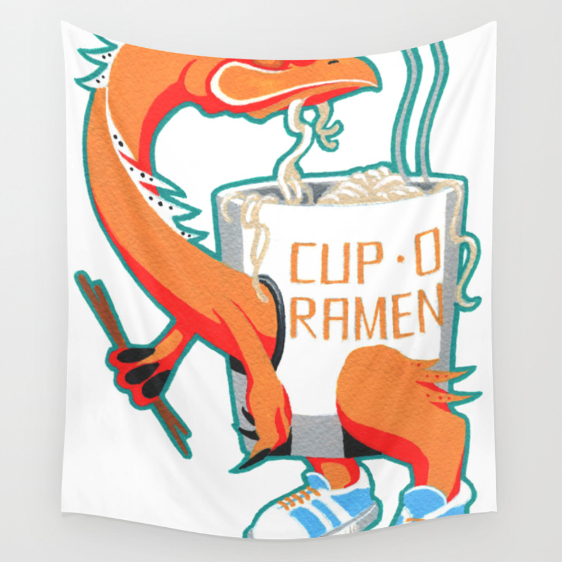 """""cup O Ramen"""" Kaiju Monster Wall Tapestry by Sadoart"" TPS7219364"