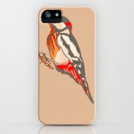 The Hard Working Woodpecker iPhone Case