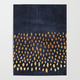 Pattern Play / Navy & Gold Poster