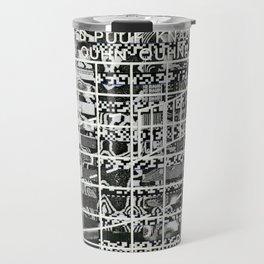 A Symbol of Belonging (P/D3 Glitch Collage Studies) Travel Mug