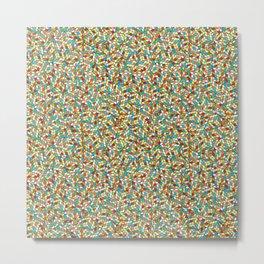 Rubix Cube Pattern Metal Print