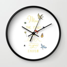 Hunger Game quality calligraphy - gold version Wall Clock