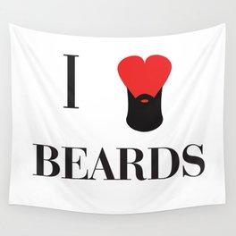 I heart Beards Wall Tapestry