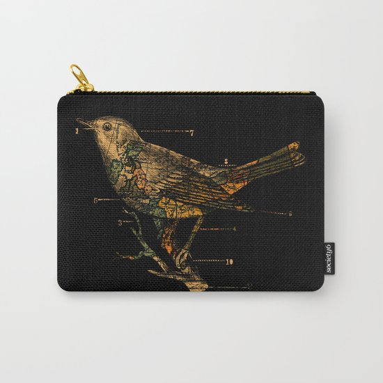 Migration - Vintage Map Wanderlust Bird Carry-All Pouch