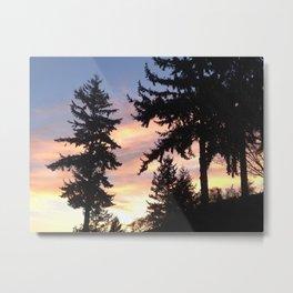 Rainbow tree sunset Metal Print