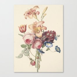 Henriëtte Geertruida Knip - a bouquet - 1820 Canvas Print